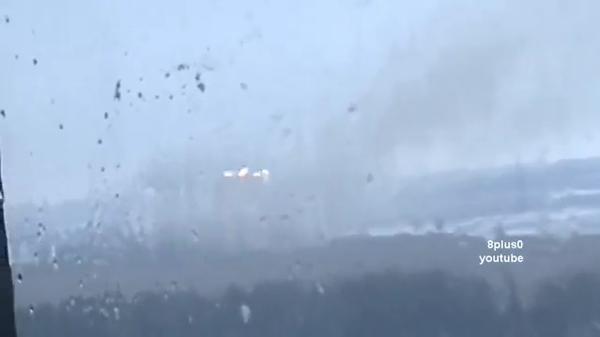 Russian MLRS shelling from Donetsk