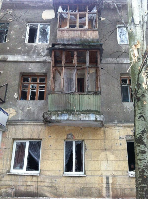 The results of the bombardment of Horlivka