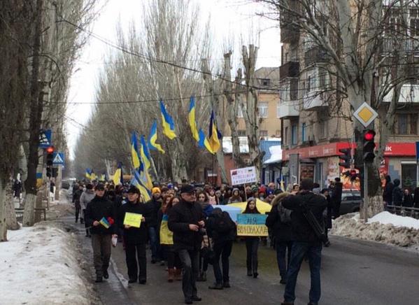 March in  Slavyansk