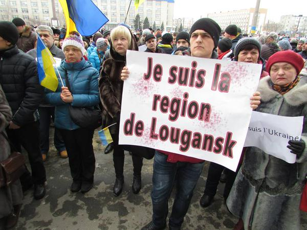 People came at the all-Ukrainian campaign I am Volnovaha in Kramatorsk
