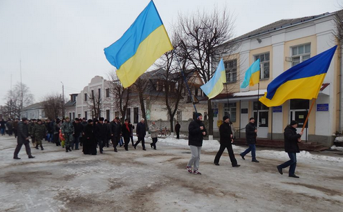 Rally in Starobilsk