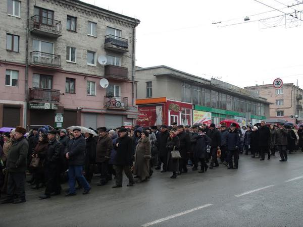In Ternopil prayed to the Jordan water washed away Putin, as last year - Yanukovych