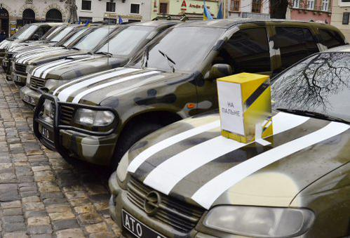 New 15 vehicles for Ukrainian military Funded by the U.S. fund