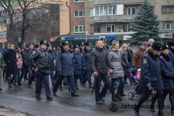 Uzhgorod Rally in memory of tragedy in Volnovaha