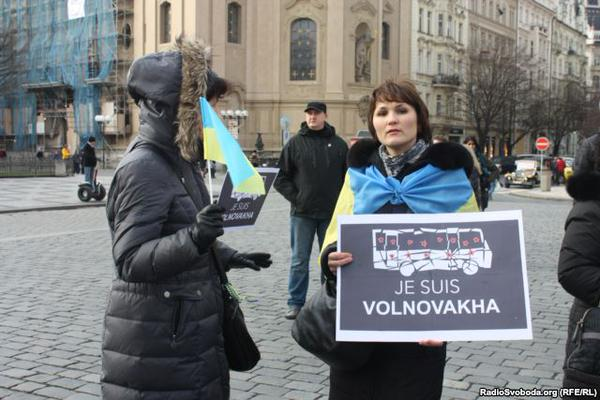 In Prague rally I am Ukraine