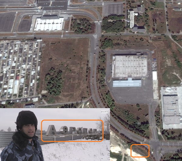 .@GrahamWP_UK is only 700 meters from the Terminal filming Rus troops moving