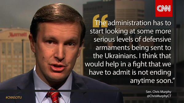 Dem. Sen. @ChrisMurphyCT says Obama admin must send military aid to Ukraine