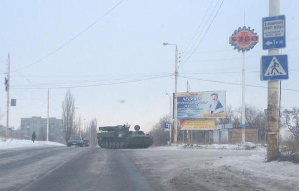SA-13 Gopher this morning in Bryanka