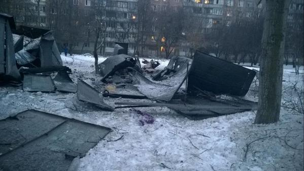 Consequences of battles in Donetsk