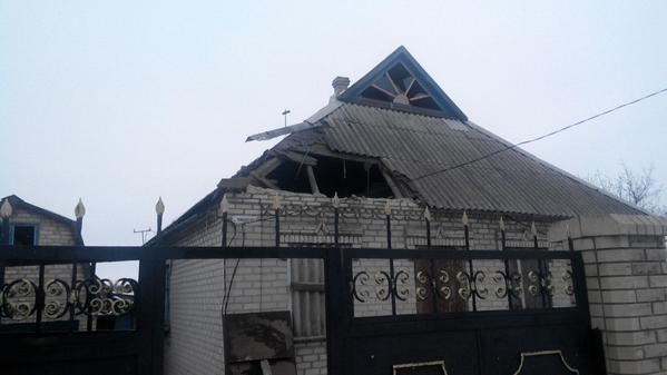 The consequences of shelling by militants in Krasnogorivka