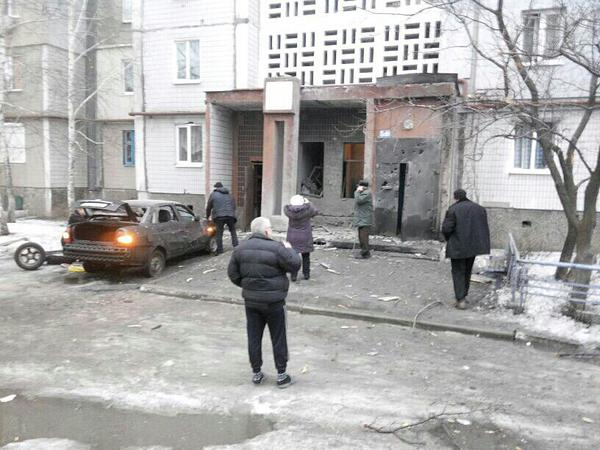 Donetsk, consequences of fire