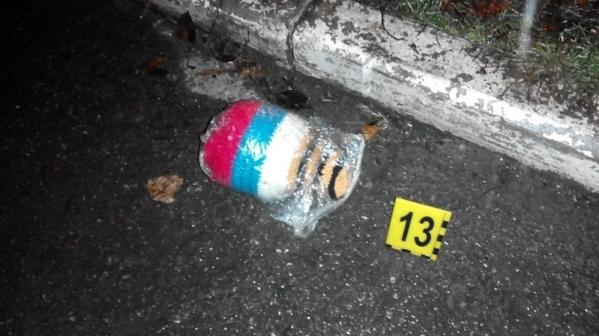 Object with the Russian symbolic are detected on the site of the attack near the court in Kharkiv