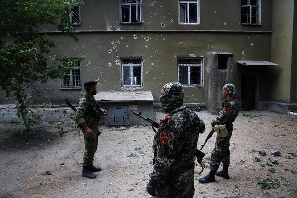 Gunmen opened fire on the Stanytsia Luhanska, two civilians are wounded