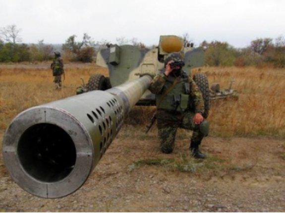 The state border service has detained four artillery spotters of militants
