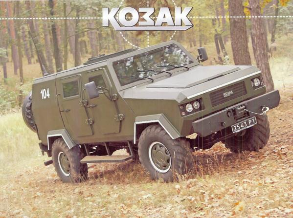 US delivers prototype of made-in-Ukraine KOZAK Armored Vehicle to Ukraine Border Guard Service