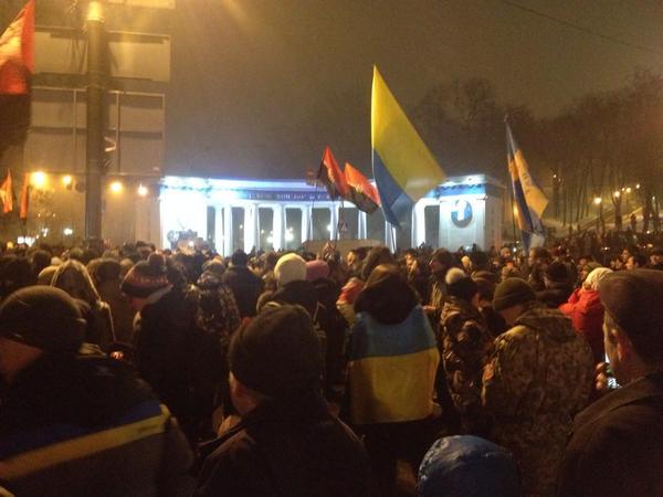 Rally on Grushevskogo street
