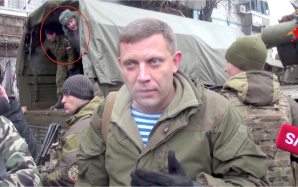 Russian soldiers in Donetsk