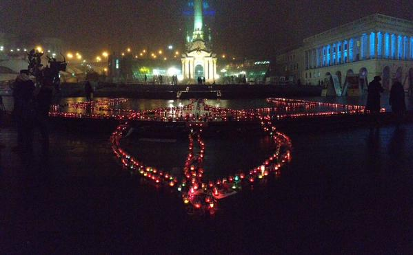 Vigil on Maidan in Kyiv