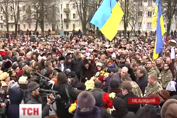 Residents of Khmelnytsky at the knees say goodbye to cyborg