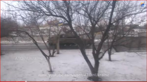 Ukraine tanks on the way to reinforce troops at front in Donbass
