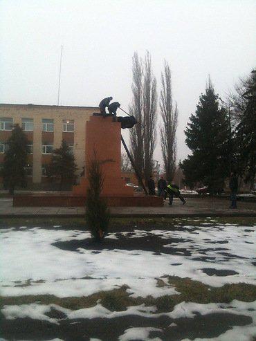 Lenin monument felt in Novyi Buh