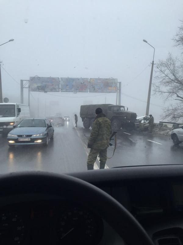 Another car accident in Donetsk with Russian military