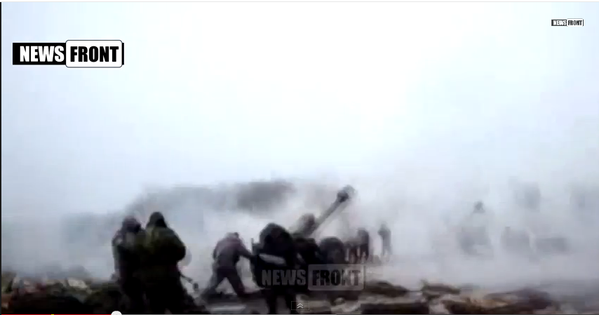 Russia firing artillery in direction of Mariupol
