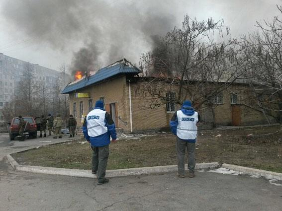 .@OSCE on the scene of Mariupol shelling