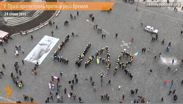 In Prague protested against Putin's policies towards Ukraine