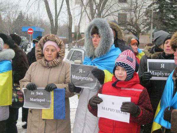 Rally  in Kramatorsk