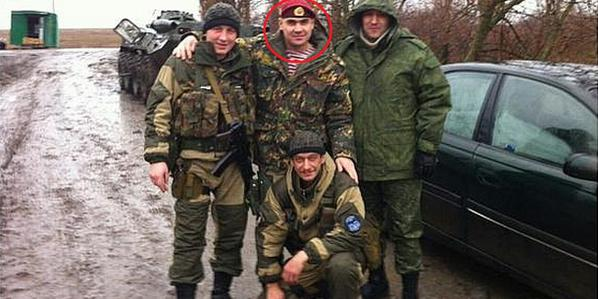 Russian lieutenant colonel from the Spetsnaz Interior Troops of RF in Styla, Donetsk Region