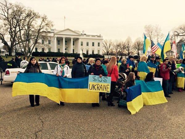 In Washington, DC Ukrainians showed their support 4 Ukraine & Savchenko