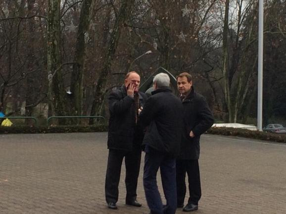 Russian Communist Zyuganov was poured blood in Strasbourg