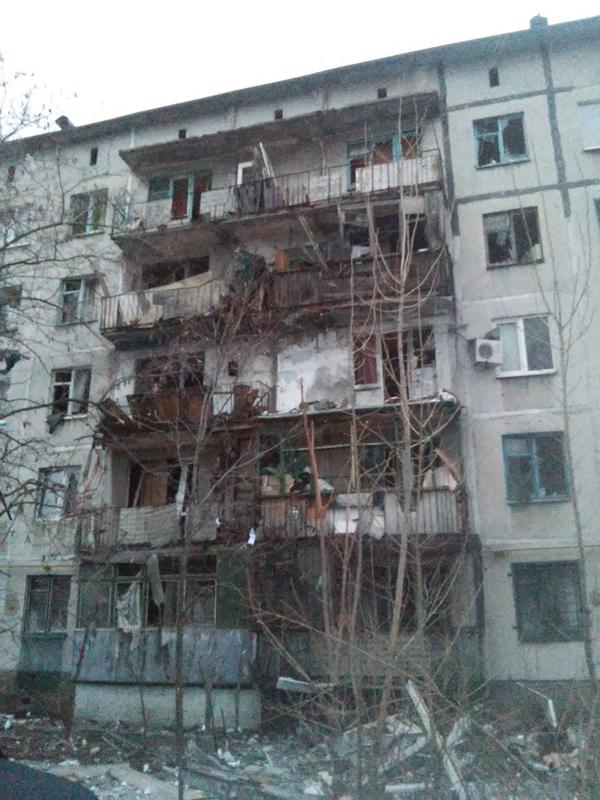 Avdiivka after yesterday's art fire of terrorists of the Russian Federation