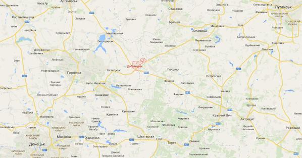 Terrorists attacked with Grad railway station in Debal'tseve