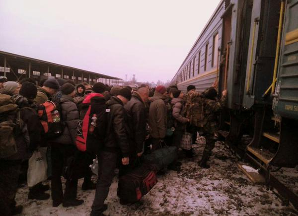 First recruits of this year went From Kiev to Lviv