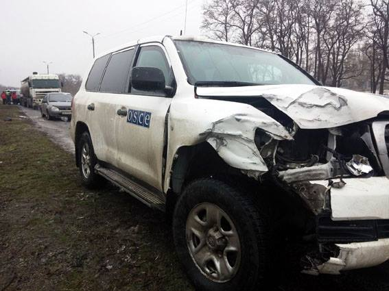 OSCE observers are involved in an accident in the Donetsk region