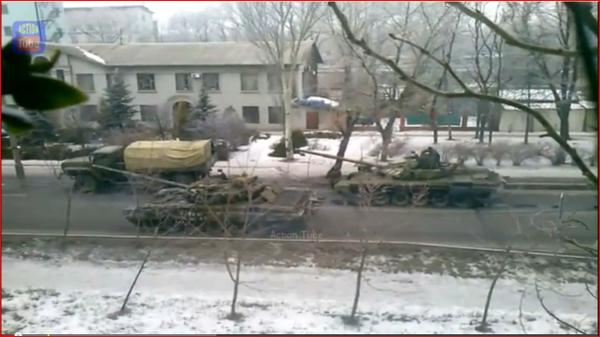 Russia latest model of T-72 the T-72B3 tank in Donetsk