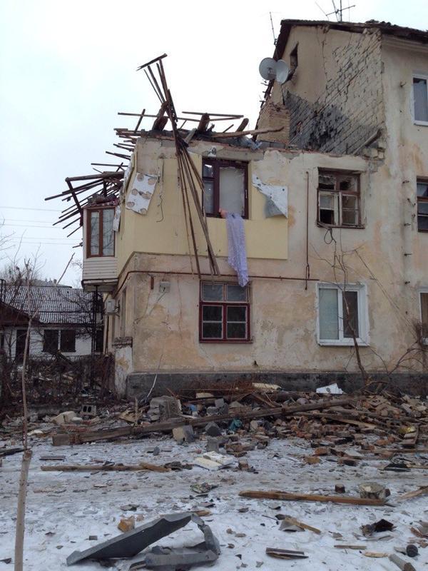 Schastye after shelling