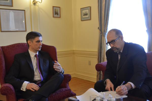 Ukraine's Deputy Foreign Minister Prystaiko started his visit to US with interviews 4 USA Today & VoA