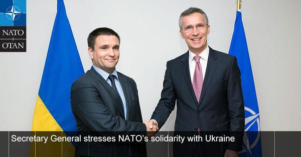 NATO SG @jensstoltenberg meets Ukraine Foreign Minister, stresses solidarity