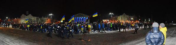 Torchlight procession. Chernigov