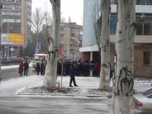 Today in Kramatorsk protest against mobilization.