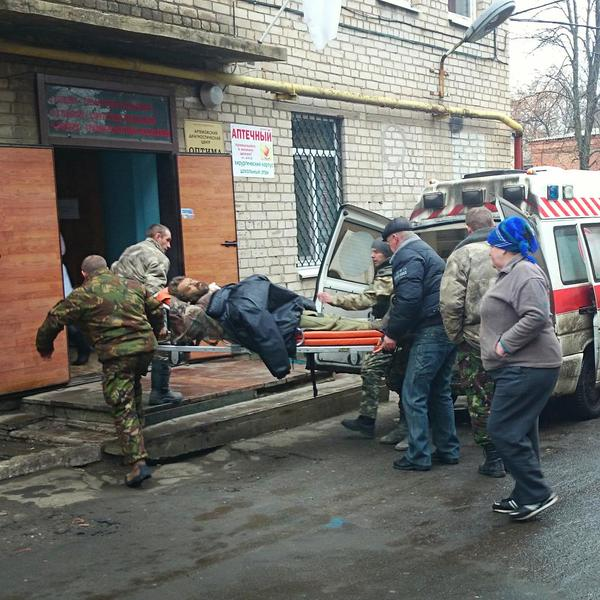 Wounded Ukraine army soldiers are brought to Artemivsk hospital almost nonstop