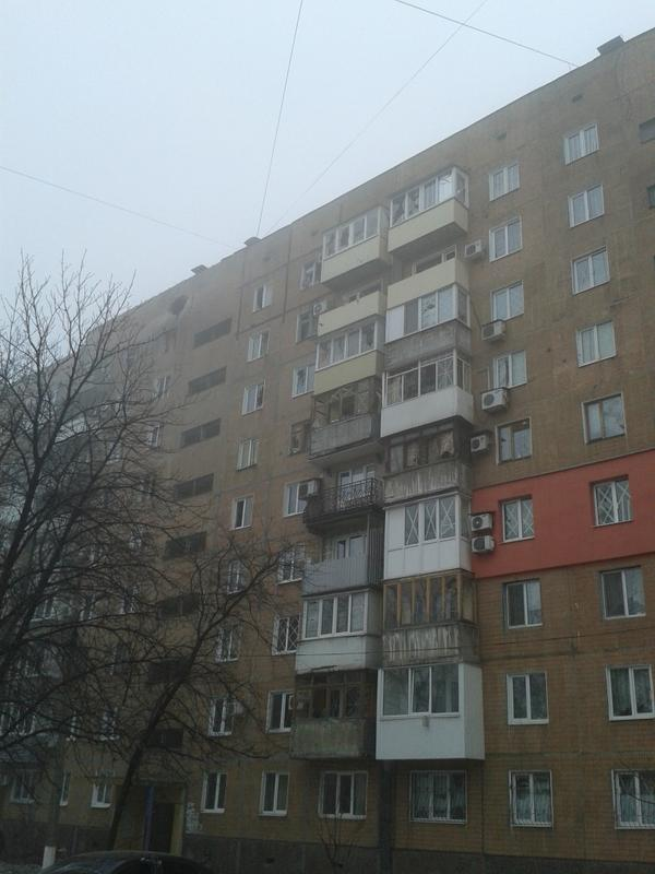 Donetsk, Kuibysheva street 209 and 211, the consequences of shelling
