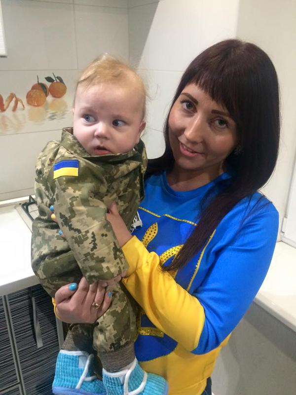 Trofim, - 6 monthes baby of the fallen Ukrainian hero