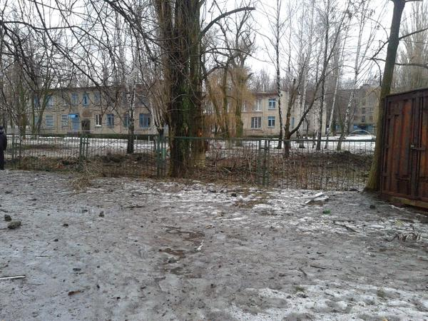Avdiivka, Mendeleev street 1, the consequences of shelling