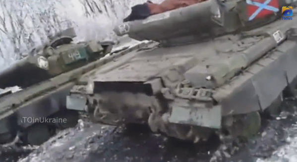 The Ukrainian army destroyed several Russian tanks