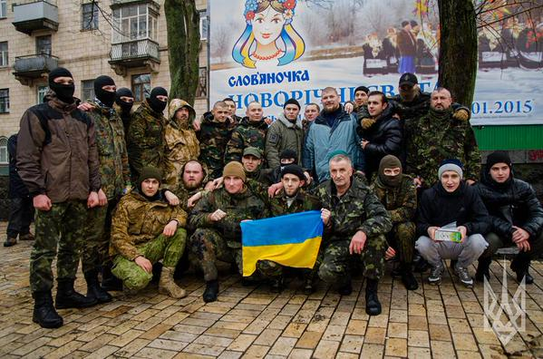 Another fifty soldiers of the regiment Azov went to war from Kyiv