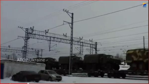 Russia military convoy heading to Ukraine SP Guns,trucks